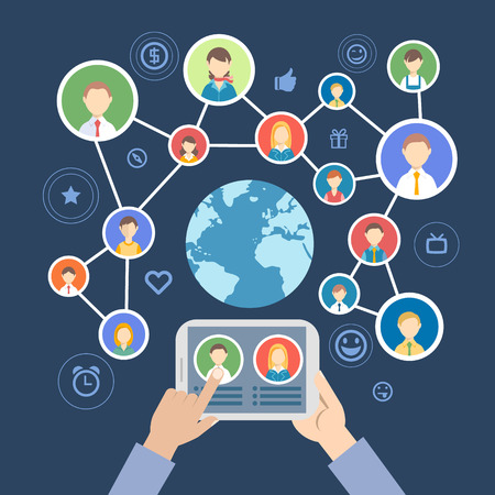 people communicate in a social network