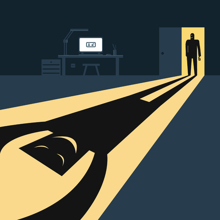 datos personales: Silueta y la sombra de hackers. Datos personales Hacked