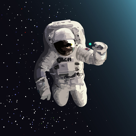 foreign bodies: astronaut found in space round object turquoise