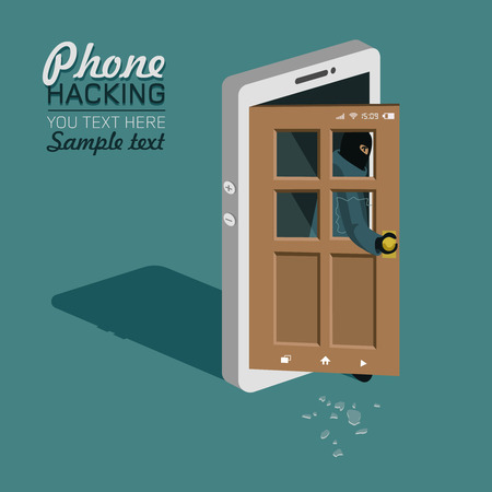 hackers: Hackers broke into the phone, broke the glass and opened the door