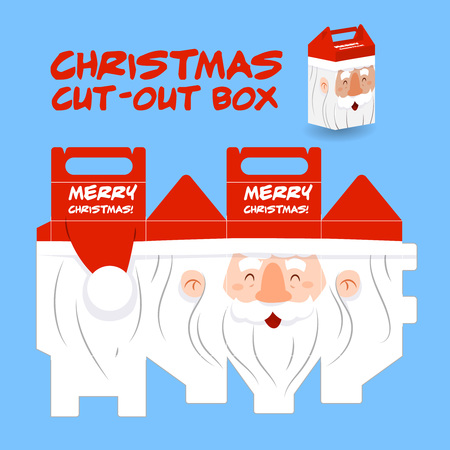 pere noel: Santa claus cut out box, Packaging for Christmas and New year