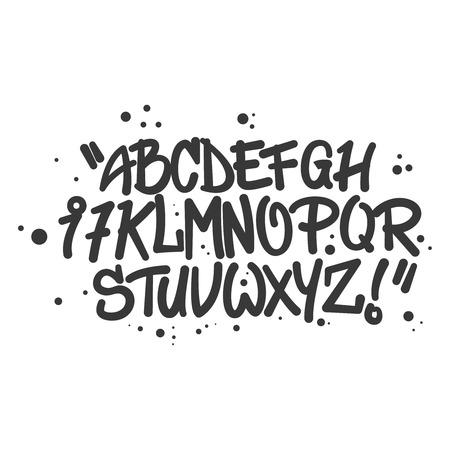 Graffiti Style Alphabet Letters Graffiti On The Wall Handmade