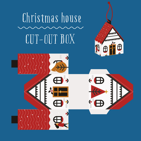 printing house: Christmas house box, packaging for the new year and christmas, printing, christmas gift