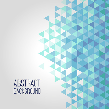 Blue background, elements of geometric shapes pattern