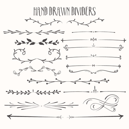Hand drawn dividers, dividers painted black blots pattern, elements for Christmas