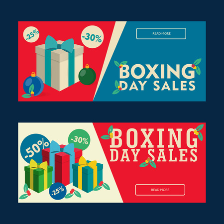 boxing day: Boxing Day Sales Coupon, Discount banner templates