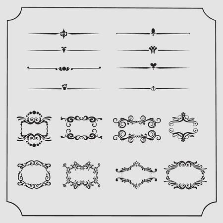framework: Vintage Frames and Dividers Collection, collection framework Illustration