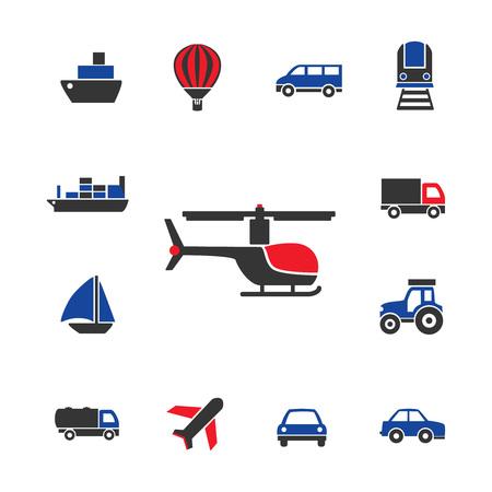 transportation icons: Transportation icons, various transport vehicles, modern transportation