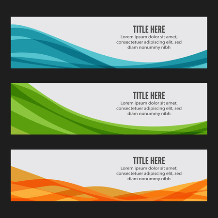web template: Colourful wave web banners, Web banner template