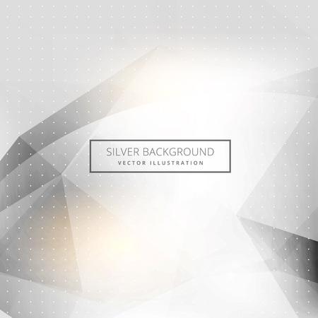 Abstracte zilveren achtergrond, geometrische vormen en gloed