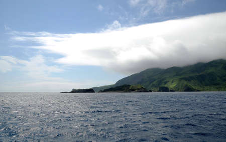 Vista de Moneron de isla de Sajalín  Foto de archivo - 7817668