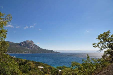 Costa sur de la península de Crimea-Cabo Sarich  Foto de archivo - 7920147