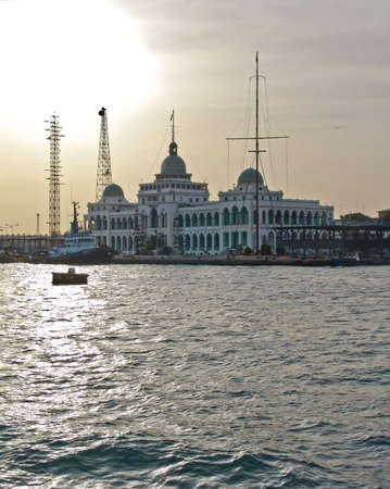Suez canal administration old building Фото со стока