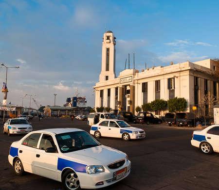 El edificio de la estación central de policía de Port Said, Egipto Foto de archivo - 12160085