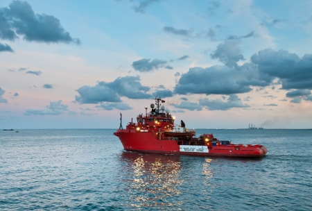 responce: ERRV  Emergency Responce Rescue Vessel  sailing out from Abu Qir port for offshore service