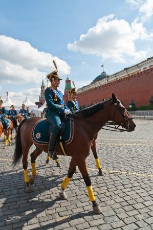 Rusia Presidencial Regimiento de Caballería Escuadrón Escolta Foto de archivo - 18171192