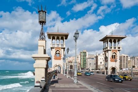alexandria egypt: Stanley Bridge in Alexandria city, Egypt