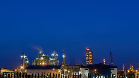 petrochemical: Petrochemical plant in night time