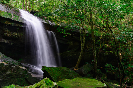 phukradueng: Tham Yai Waterfall at Phu Kradueng national park, Loei Thailand,