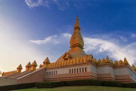 Chedi maha mongkol bua Landmarks of Roi et, Thailand in the evening. Stock Photo