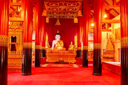 hua: Nan, Thailand - 2016-12-25 : Buddha inside the beautiful  in Buddhist temple at Wat Hua Khuang, Nan province. temple, Nan province. Editorial