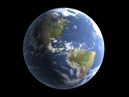 earth 3d render Stock Photo - 3251754