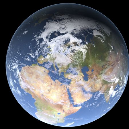 earth 3d render photo