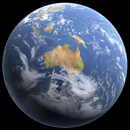 earth 3d render Stock Photo - 3251766
