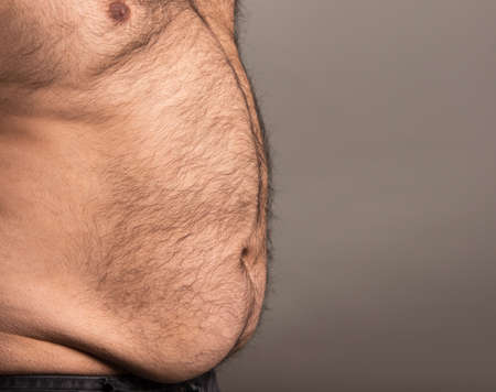 hairy male: Profile image of overweight man