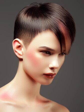 Hair salon. Fashion and beauty concept. Fashion model