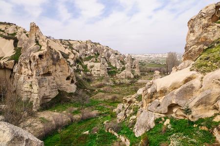 goreme: Valley panorama view in GOREME, TURKEY Stock Photo