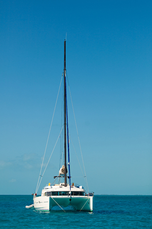 Yacht - Catamaran in the tropical sea. Yachting Luxury Sailing. 写真素材