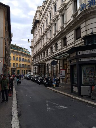 ROME, ITALY - SEPTEMBER 15 2015 Street in Rome