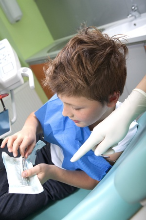 Young boy in a dental surgery Stock Photo - 11171071
