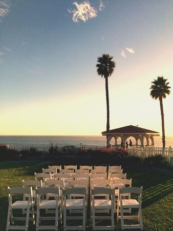california coast: A beautiful wedding set up on the California Coast