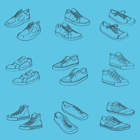 Sneakers, vector illustration Vector