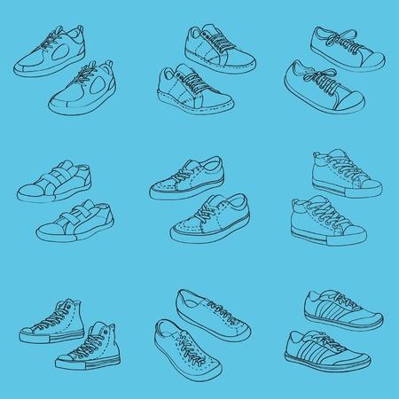 Sneakers, vector illustration Vector