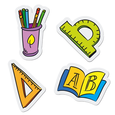 pencil case: School and education objects, vector illustration Illustration