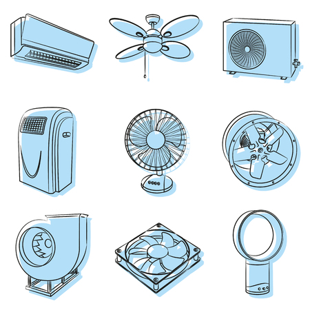 ionizer: Vector air conditioners and ventilators