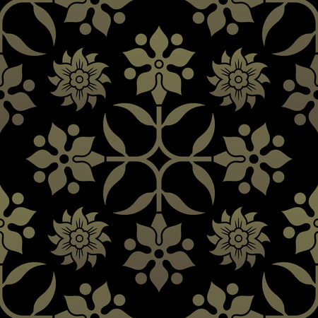 seamless pattern floral: Golden seamless pattern. Floral elements, ornate background. Editable vector file. Illustration