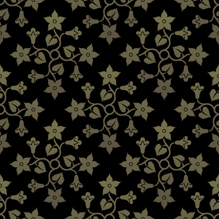 gold ornaments: Golden seamless background.
