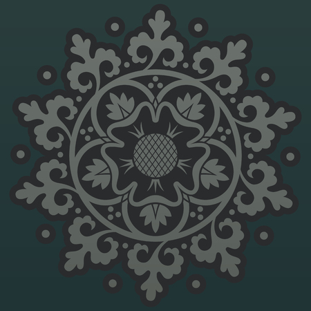 tattooing: Ornamental round pattern. Vector illustration