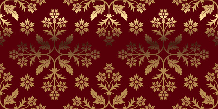 luxurious: Luxurious card with gold pattern. Perfect for greetings, invitations and announcements. Vector file