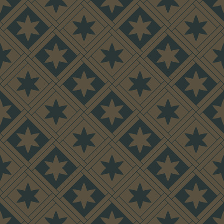 gothic style: Golden seamless pattern on a deep green background. Royal elements in a gothic style. Decoration for wallpaper, fabrics, tiles and mosaics. Vector illustration