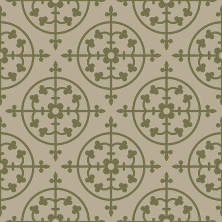 gothic style: Beige seamless background. Royal elements in a gothic style. Ornament for a tiles and mosaics. Pattern for wallpaper and textile. Editable vector file. Illustration