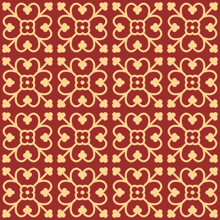 flower age: Gothic seamless pattern. Geometrical royal elements in a medieval style. Ornament for a tiles and mosaics. Vector illustration