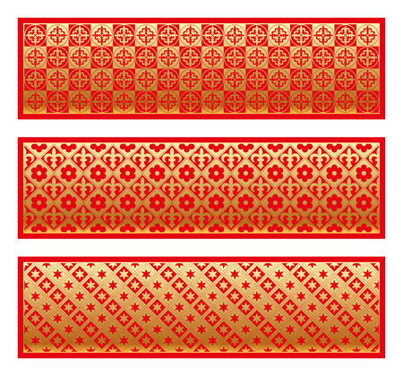 Gold seamless pattern with royal elements in a gothic style. Ornament for a tiles and mosaics. Vector background.