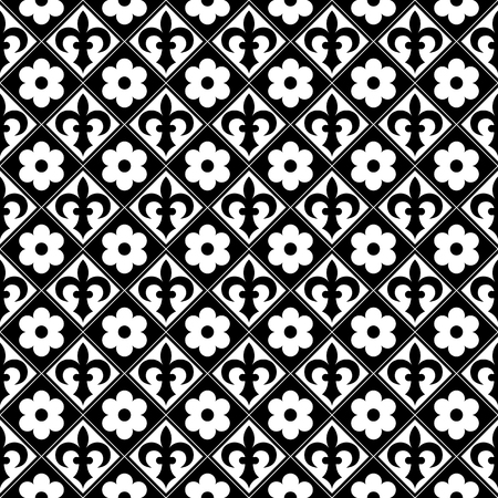 gothic style: Gothic seamless pattern. Elements in a medieval style. Ornament for a tiles and mosaics. Vector illustration Illustration