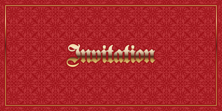 luxury template: Invitation card with gothic ornament. Elegant luxury template. Perfect for greetings, invitations and announcements. Vector file Illustration