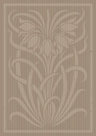 Floral ornament. Silhouette of flowers. Figure bouquet in the form of a stencil or cutout with carton. Vector background
